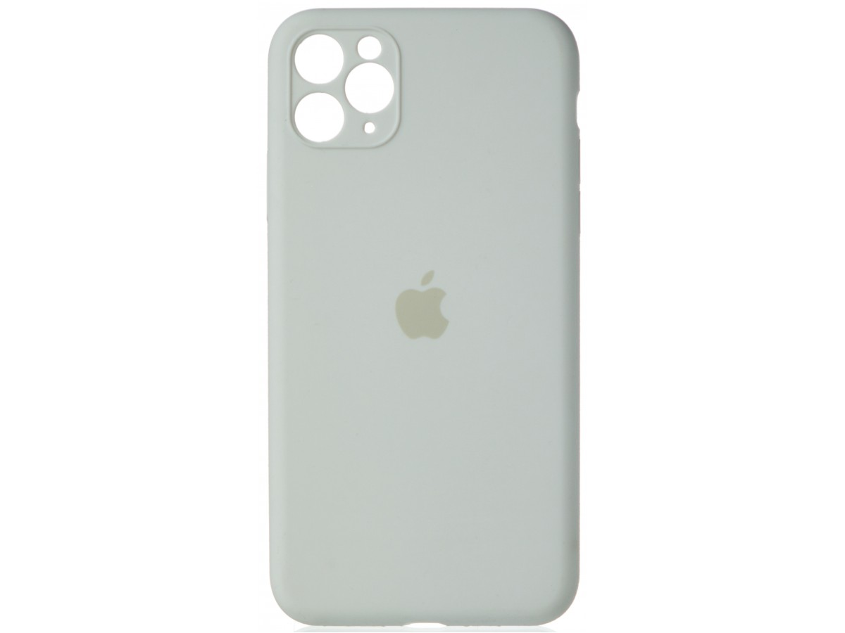Чехол Silicone Case полная защита для iPhone 11 Pro Max белый в Тюмени