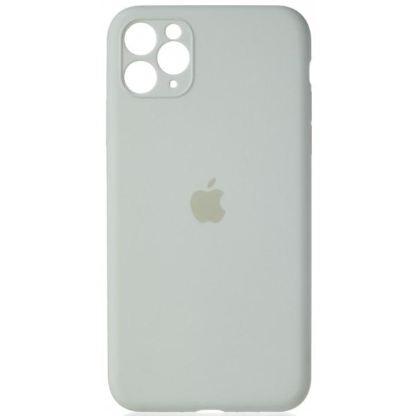Чехол Silicone Case полная защита для iPhone 11 Pro Max белый