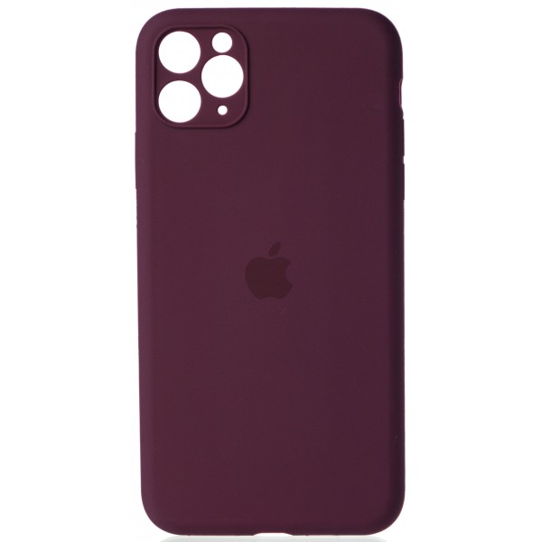 Чехол Silicone Case полная защита для iPhone 11 Pro Max винный
