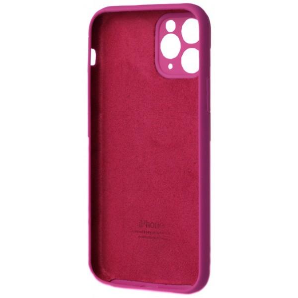 Чехол Silicone Case полная защита для iPhone 11 Pro Max фуксия