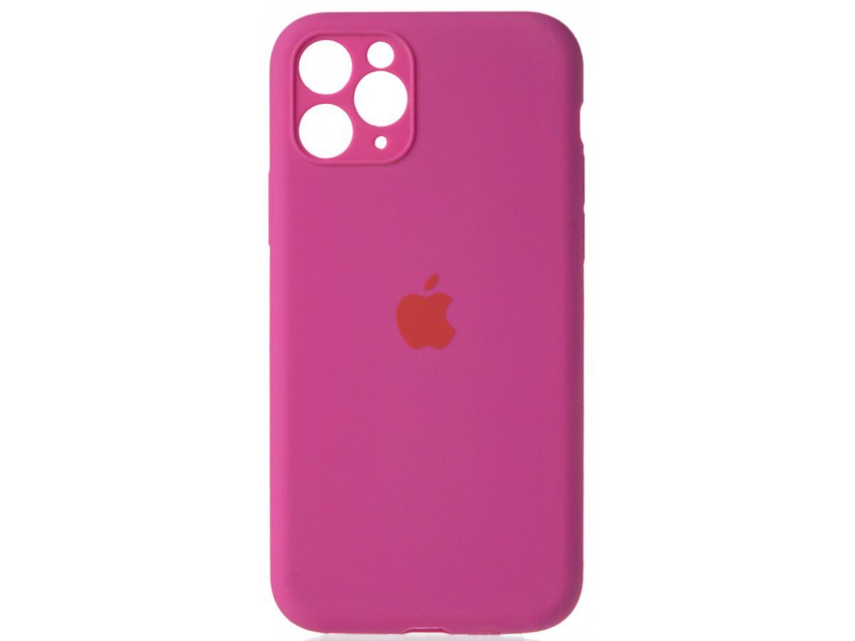 Чехол Silicone Case полная защита для iPhone 11 Pro Max фуксия в Тюмени