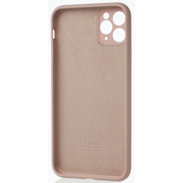 Чехол Silicone Case полная защита для iPhone 11 Pro Max розовый