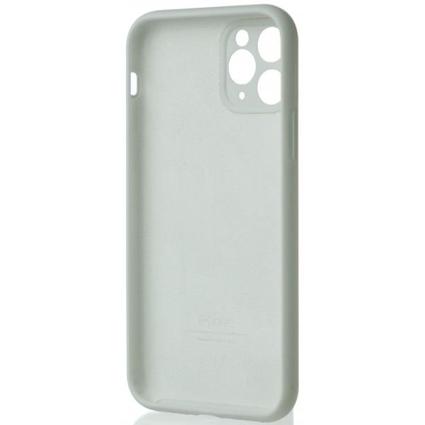 Чехол Silicone Case полная защита для iPhone 11 Pro белый