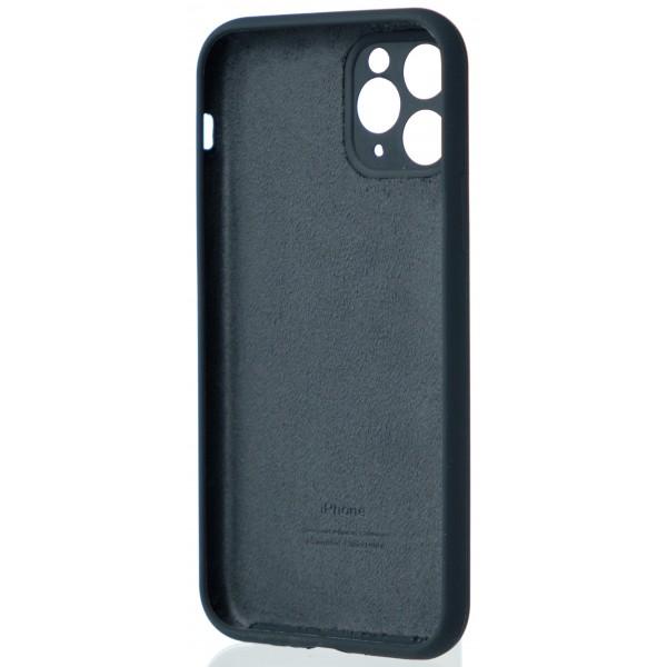 Чехол Silicone Case полная защита для iPhone 11 Pro темно-серый