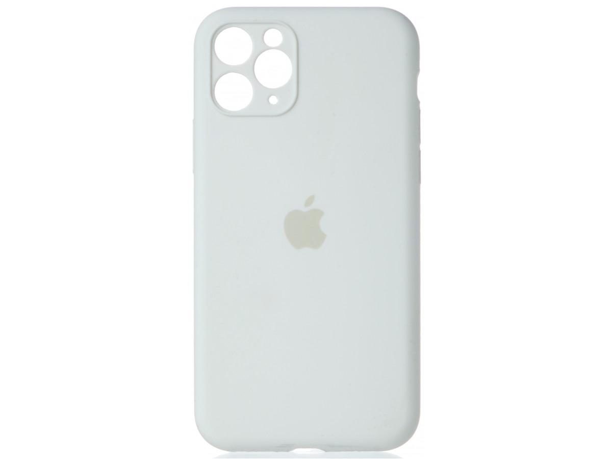 Чехол Silicone Case полная защита для iPhone 11 Pro белый в Тюмени