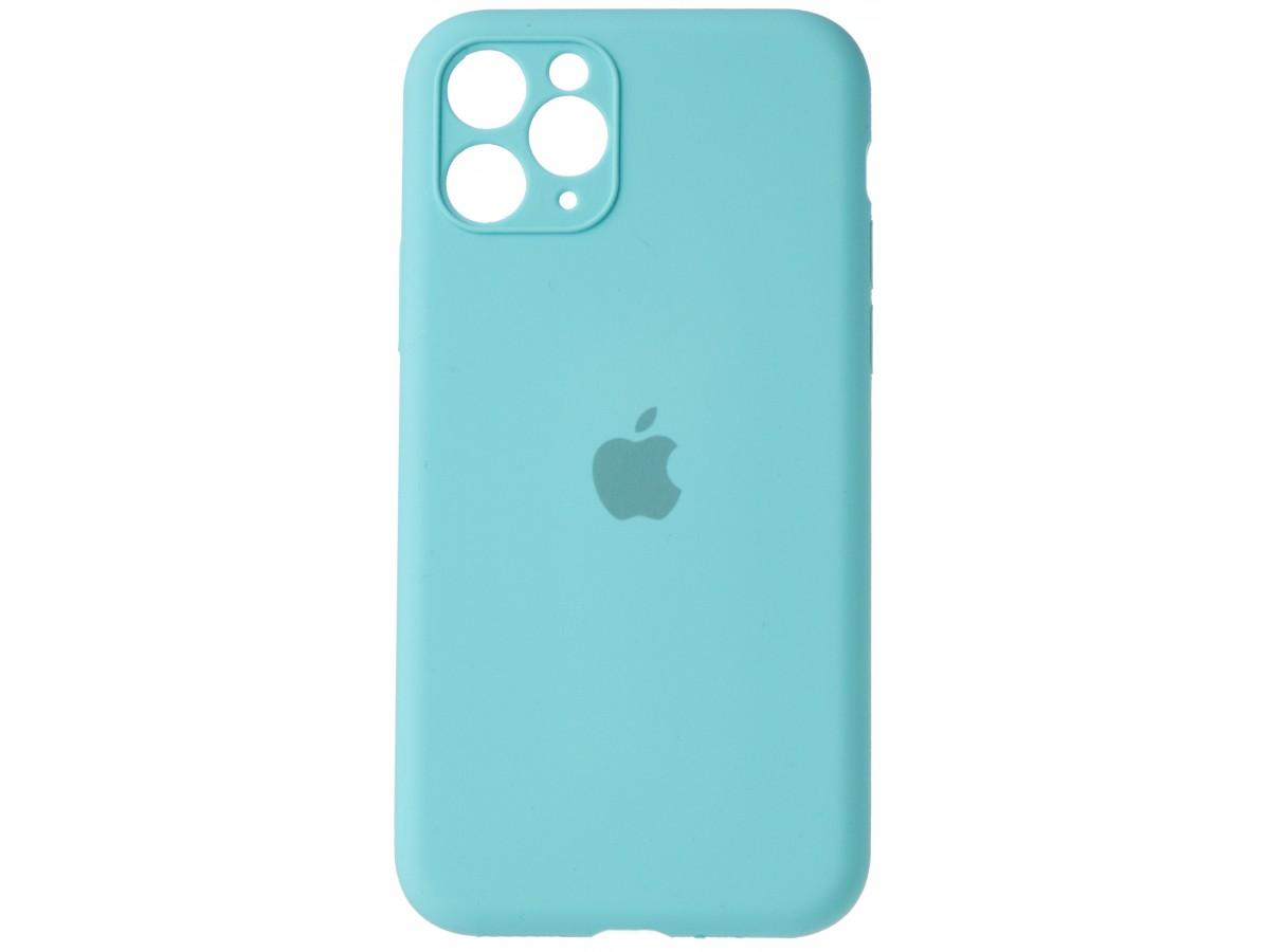 Чехол Silicone Case полная защита для iPhone 11 Pro бирюзовый в Тюмени
