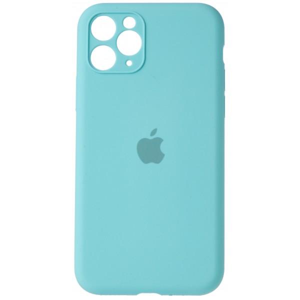 Чехол Silicone Case полная защита для iPhone 11 Pro бирюзовый