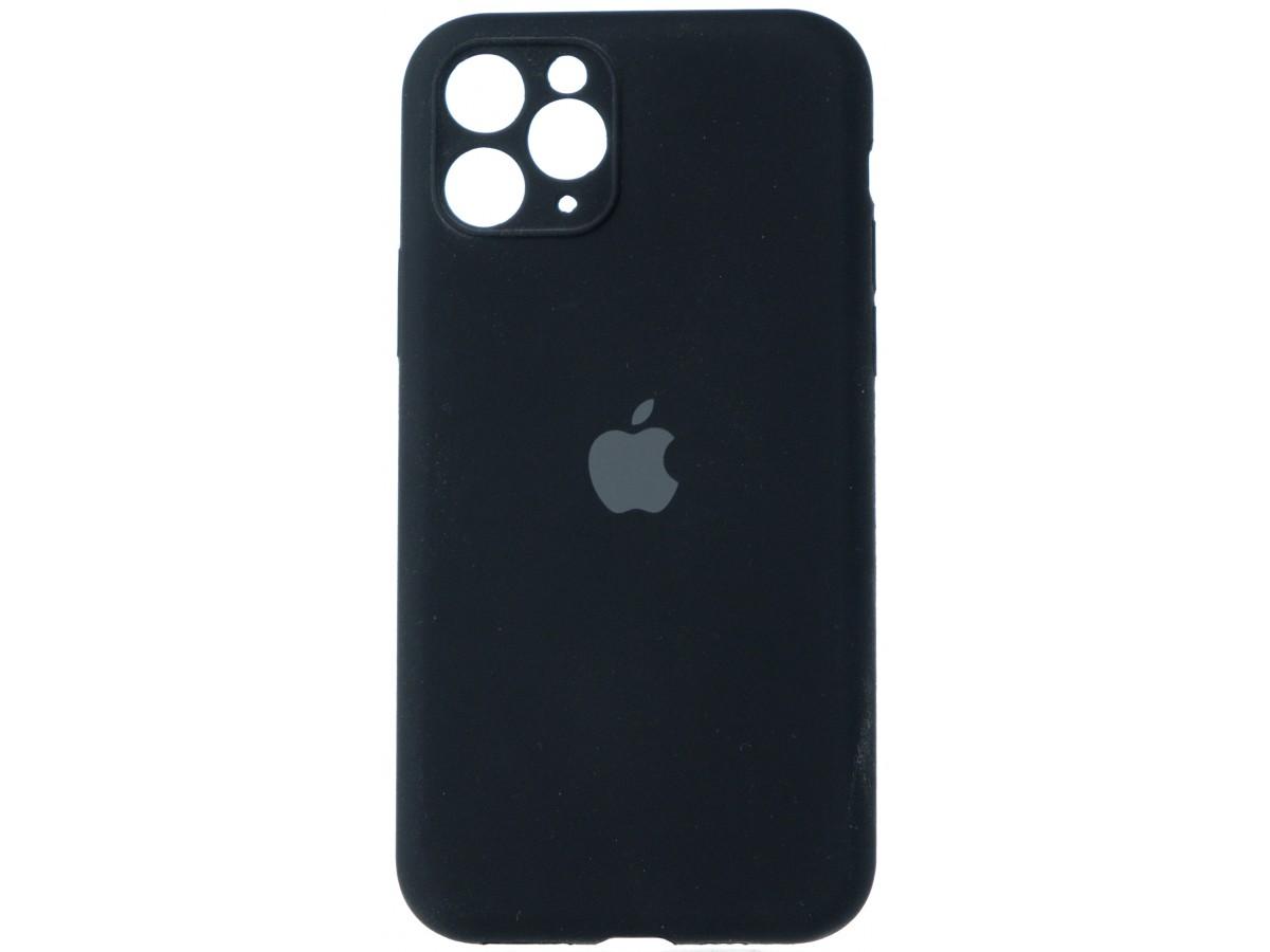 Чехол Silicone Case полная защита для iPhone 11 Pro черный в Тюмени