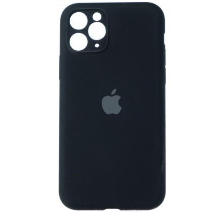 Чехол Silicone Case (С) 360 iPhone 11 Pro Max черный