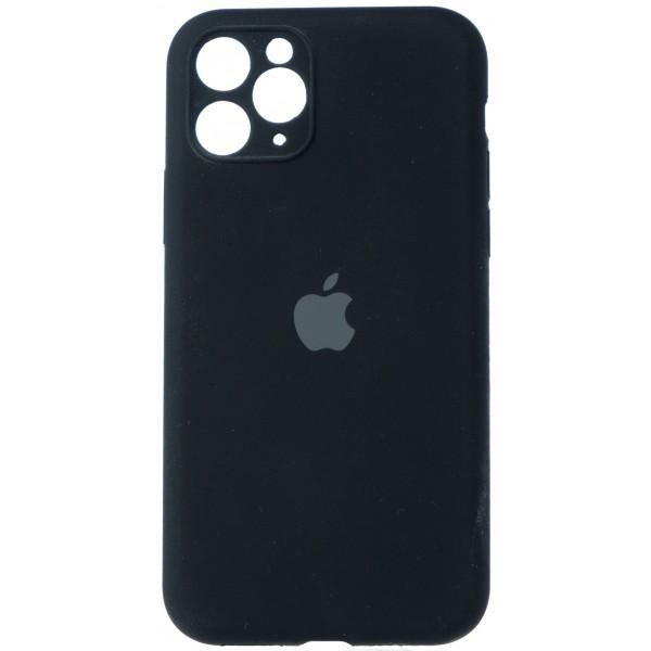 Чехол Silicone Case полная защита для iPhone 11 Pro черный