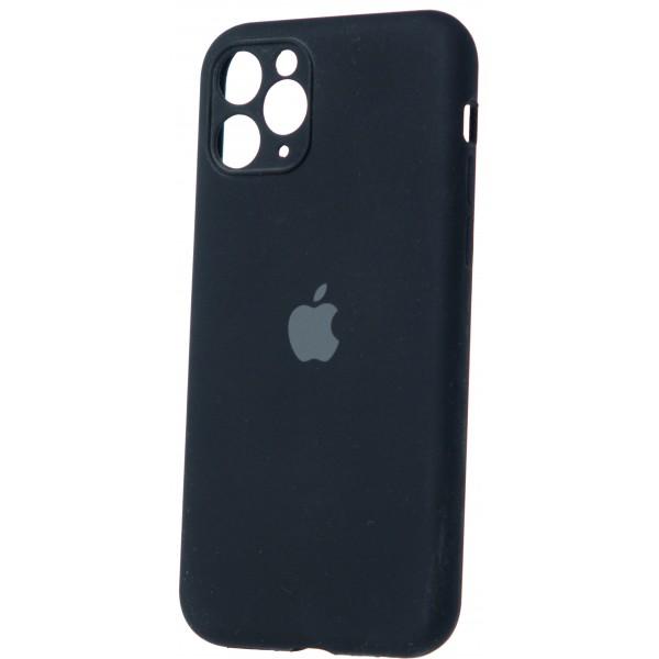 Чехол Silicone Case полная защита iPhone 11 Pro Max черный