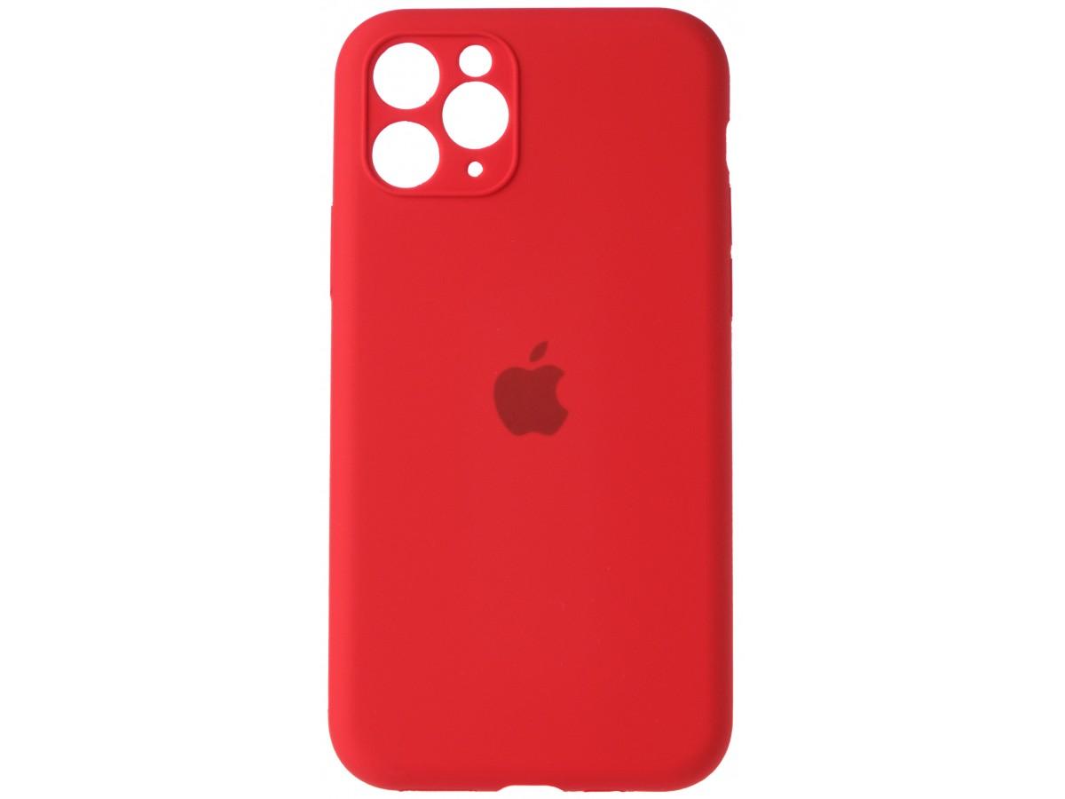 Чехол Silicone Case полная защита для iPhone 11 Pro Max красный в Тюмени