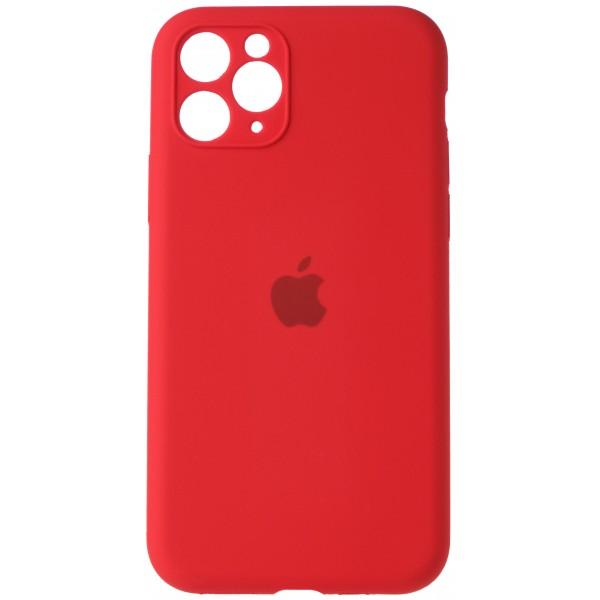 Чехол Silicone Case полная защита для iPhone 11 Pro Max красный