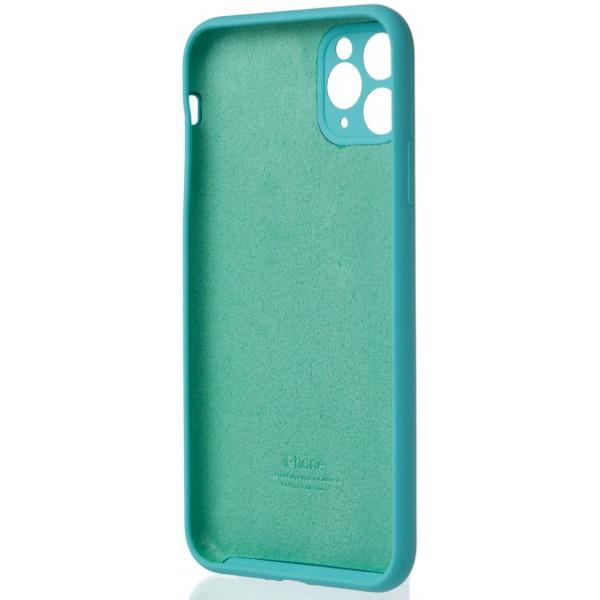 Чехол Silicone Case полная защита для iPhone 11 Pro Max бирюзовый