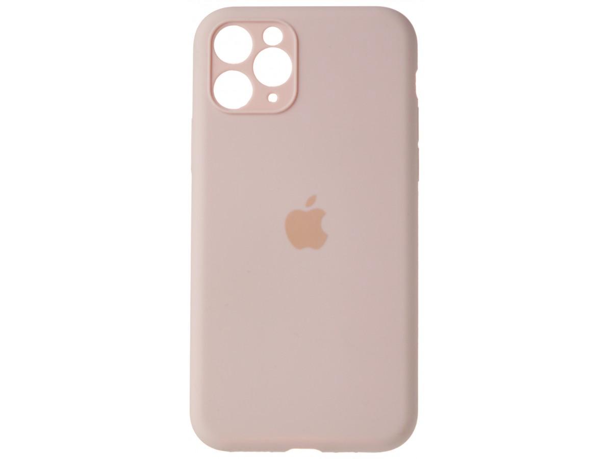 Чехол Silicone Case полная защита для iPhone 11 Pro розовый в Тюмени