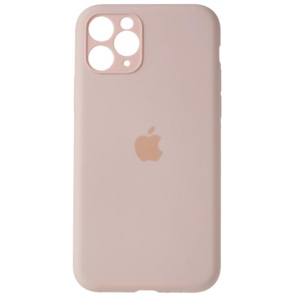 Чехол Silicone Case полная защита для iPhone 11 Pro розовый