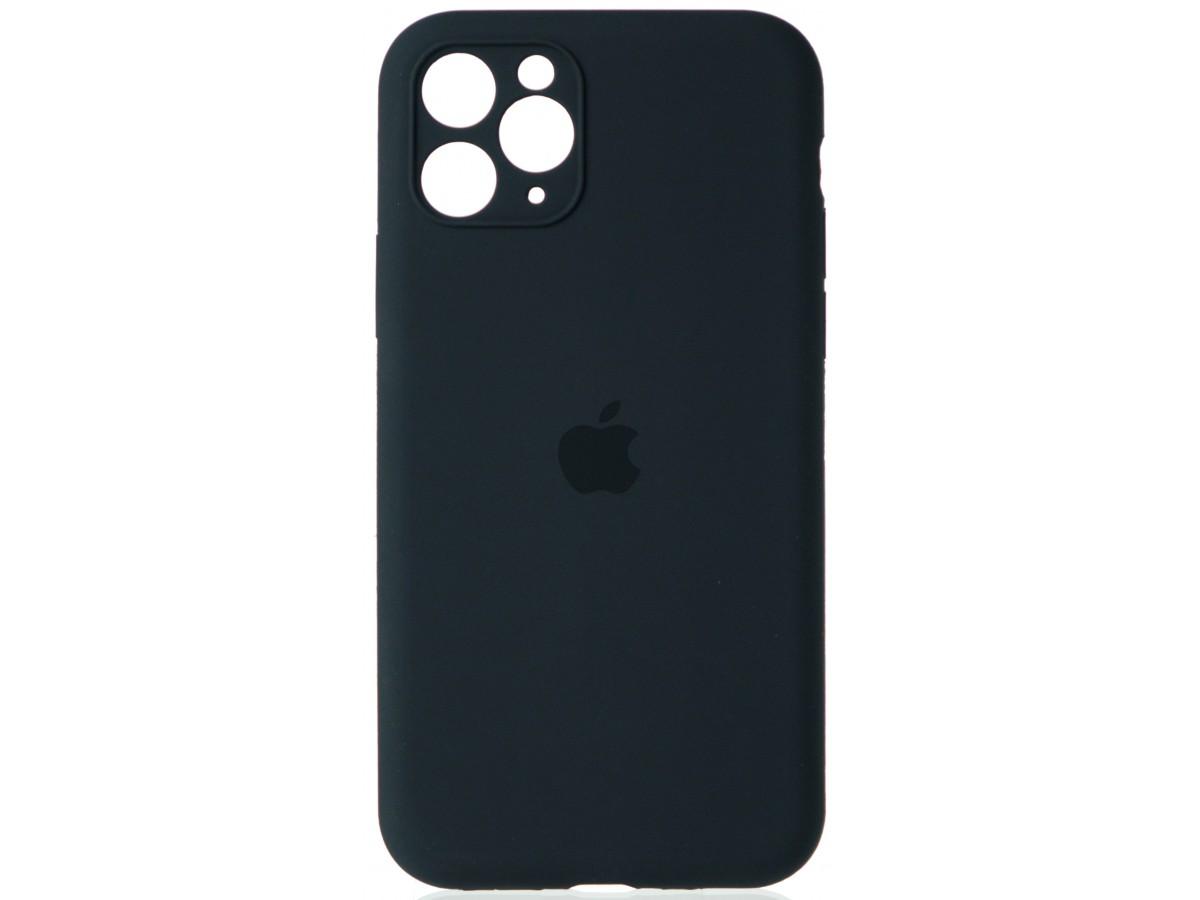 Чехол Silicone Case полная защита для iPhone 11 Pro темно-серый в Тюмени