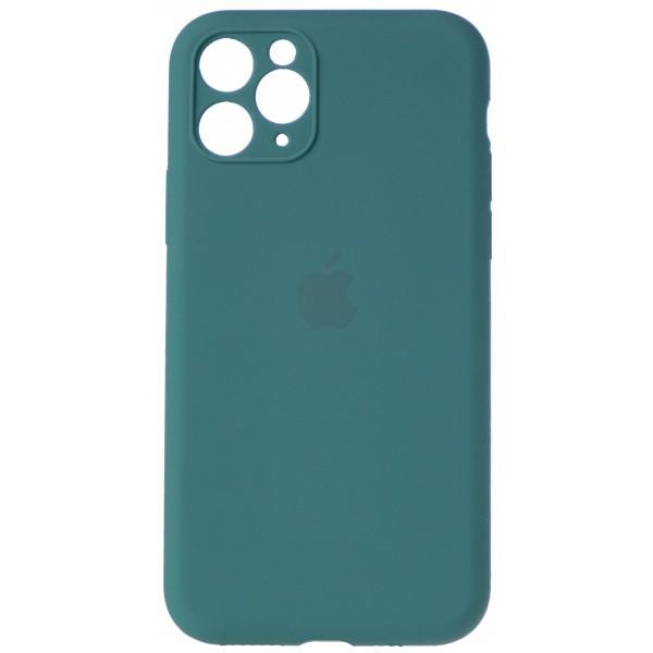Чехол Silicone Case полная защита для iPhone 11 Pro темно-зеленый