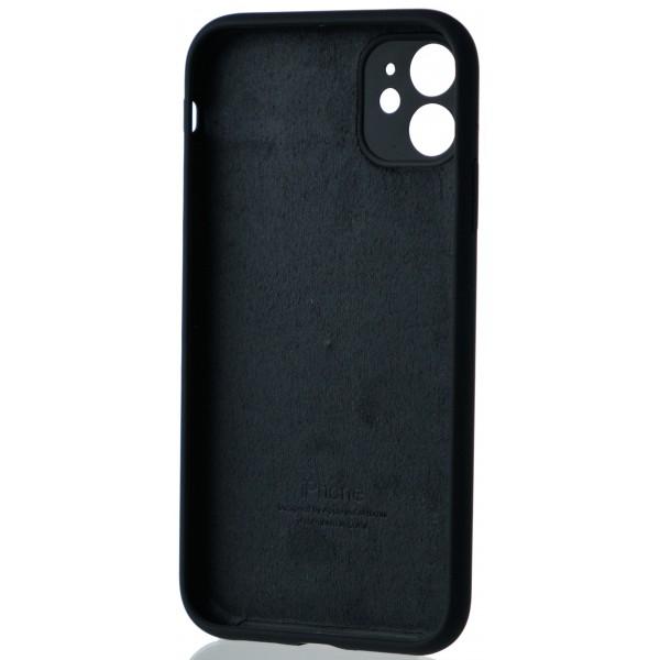 Чехол Silicone Case полная защита для iPhone 11 темно-серый