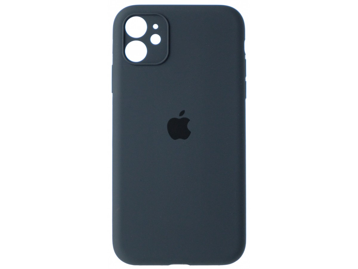 Чехол Silicone Case полная защита для iPhone 11 темно-серый в Тюмени