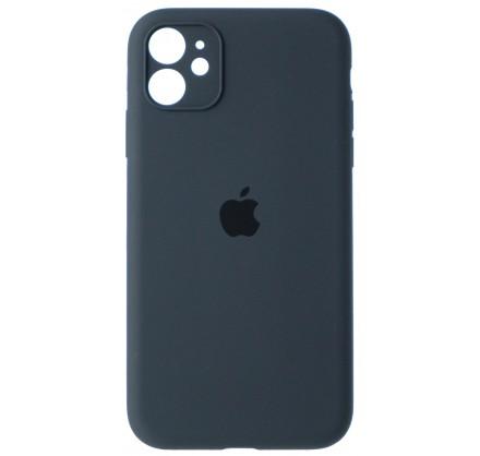 Чехол Silicone Case полная защита для iPhone 11 темно-с...