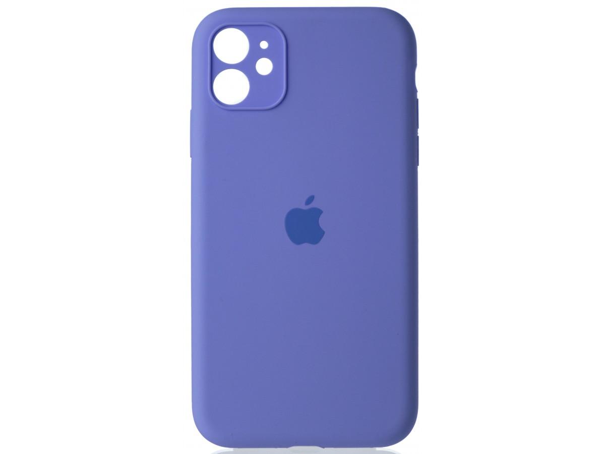Чехол Silicone Case полная защита для iPhone 11 лиловый в Тюмени