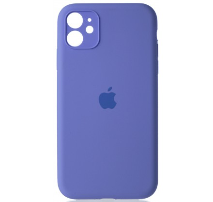 Чехол Silicone Case полная защита для iPhone 11 лиловый
