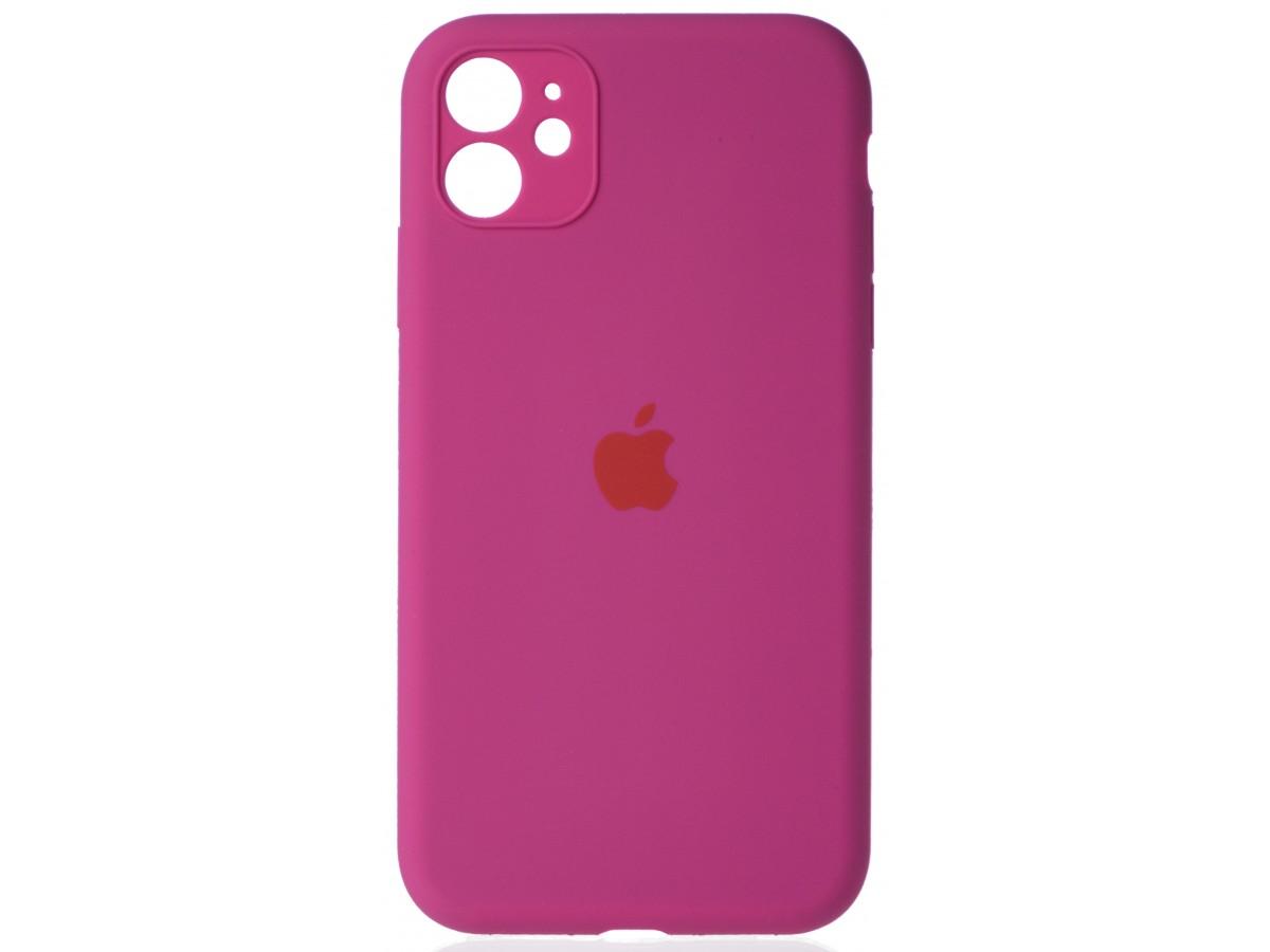 Чехол Silicone Case полная защита для iPhone 11 фуксия в Тюмени