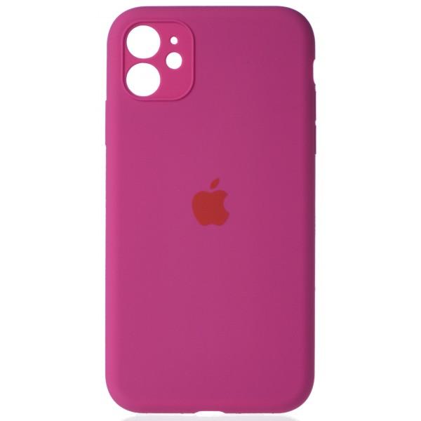 Чехол Silicone Case полная защита для iPhone 11 фуксия