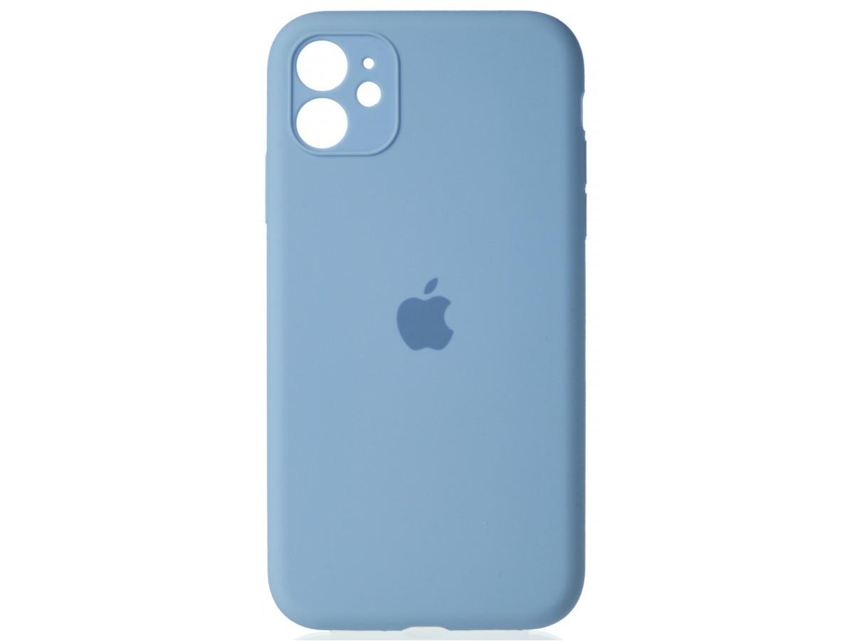 Чехол Silicone Case полная защита для iPhone 11 светло-голубой в Тюмени