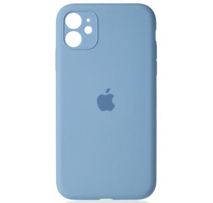 Чехол Silicone Case полная защита для iPhone 11 светло-...