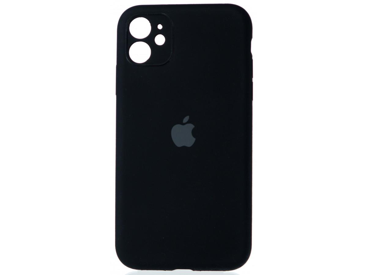 Чехол Silicone Case полная защита для iPhone 11 черный в Тюмени