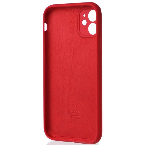 Чехол Silicone Case полная защита для iPhone 11 красный