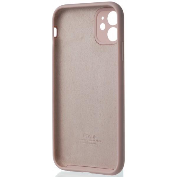 Чехол Silicone Case полная защита для iPhone 11 розовый