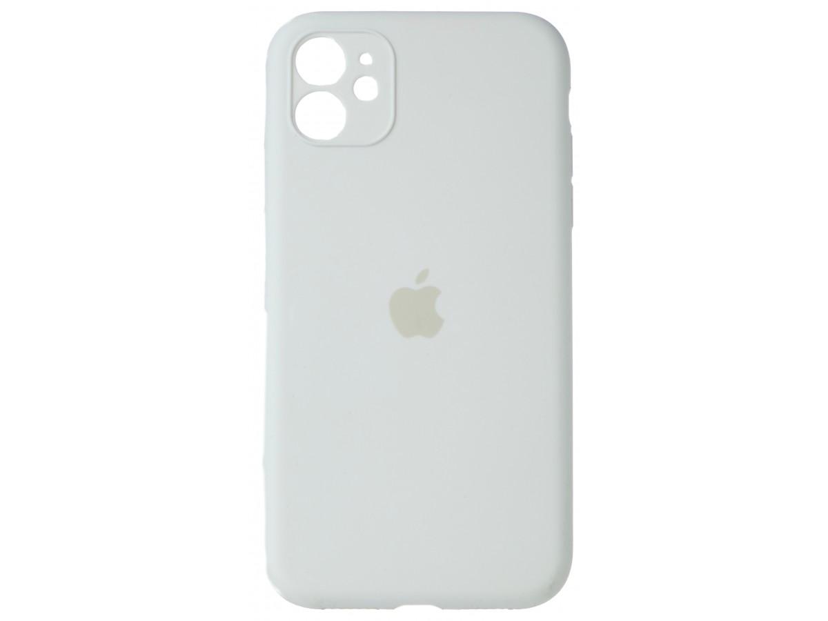 Чехол Silicone Case полная защита для iPhone 11 белый в Тюмени
