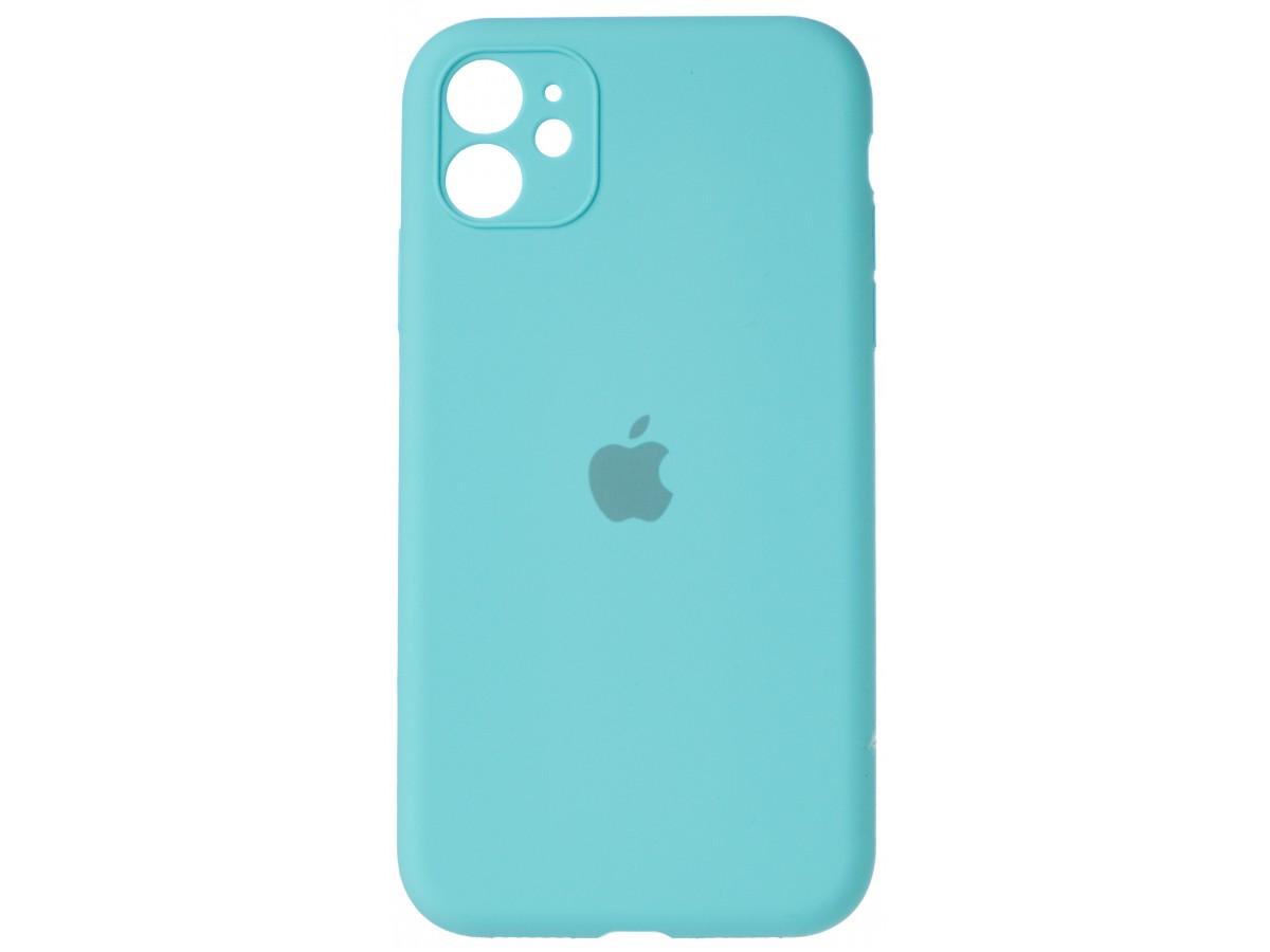 Чехол Silicone Case полная защита для iPhone 11 бирюзовый в Тюмени