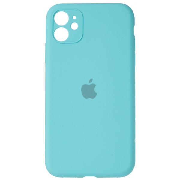 Чехол Silicone Case полная защита для iPhone 11 бирюзовый