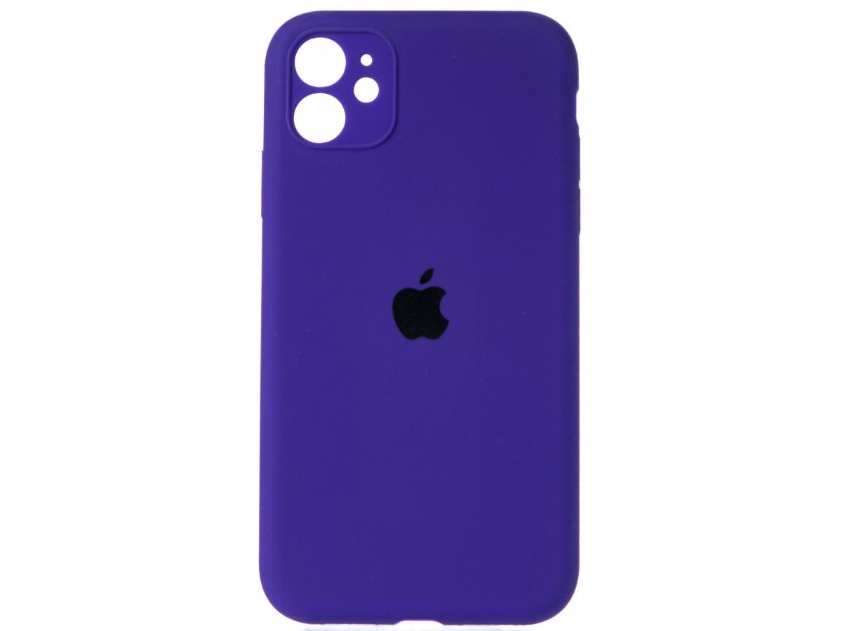 Чехол Silicone Case полная защита для iPhone 11 фиолетовый в Тюмени