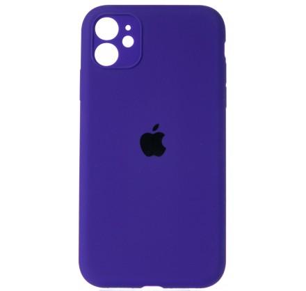 Чехол Silicone Case полная защита для iPhone 11 фиолето...