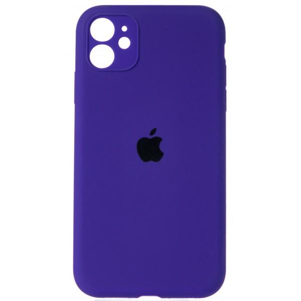 Чехол Silicone Case полная защита для iPhone 11 фиолетовый