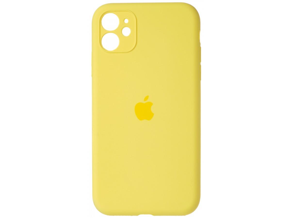 Чехол Silicone Case полная защита для iPhone 11 желтый в Тюмени
