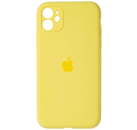 Чехол Silicone Case (С) 360 iPhone 11 желтый