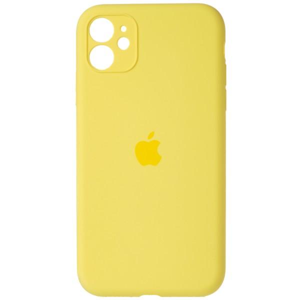 Чехол Silicone Case полная защита для iPhone 11 желтый