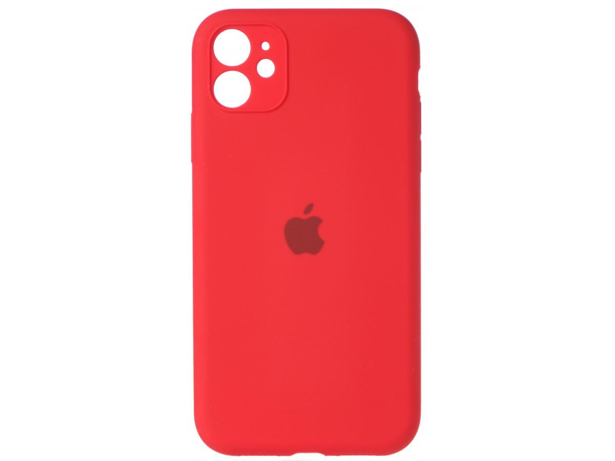 Чехол Silicone Case полная защита для iPhone 11 красный в Тюмени