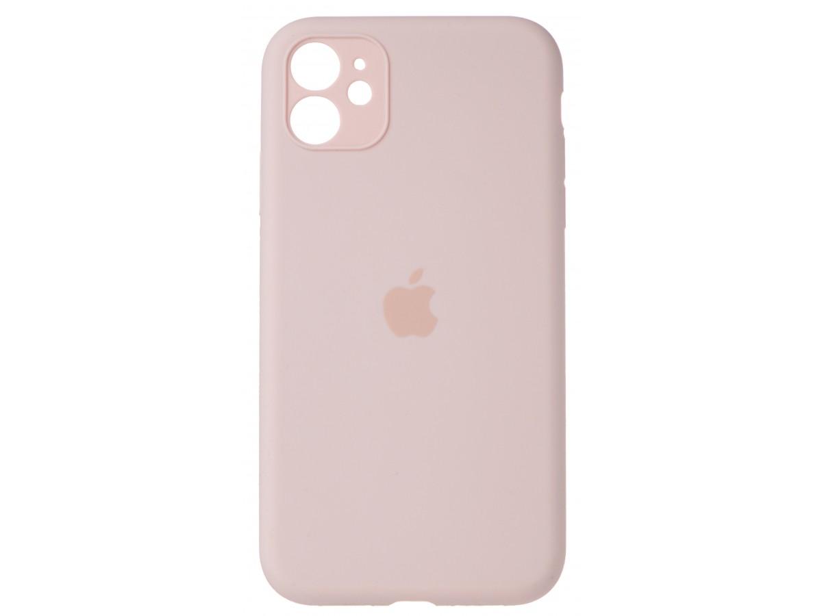 Чехол Silicone Case полная защита для iPhone 11 розовый в Тюмени