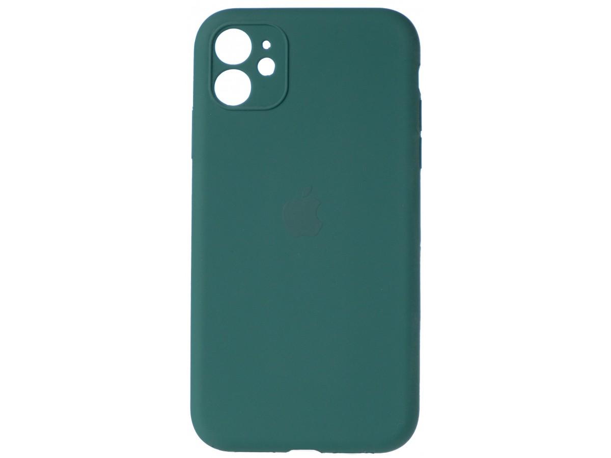 Чехол Silicone Case полная защита для iPhone 11 темно-зеленый в Тюмени