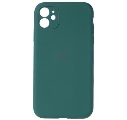 Чехол Silicone Case полная защита для iPhone 11 темно-з...