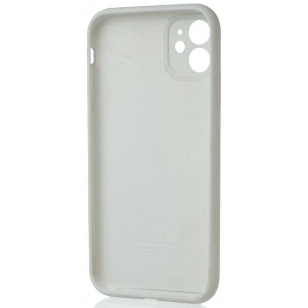 Чехол Silicone Case полная защита для iPhone 11 белый