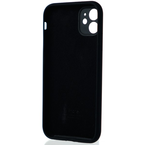 Чехол Silicone Case полная защита для iPhone 11 черный