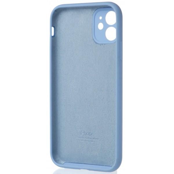 Чехол Silicone Case полная защита для iPhone 11 светло-голубой